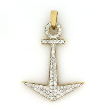 Load image into Gallery viewer, 14K Yellow Gold Anchor Pendant 1.85 Ctw