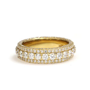 14K Yellow Gold Eternity Band Ring 3.4 Ctw
