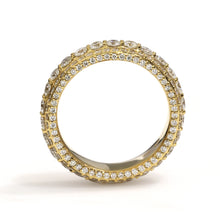 Load image into Gallery viewer, 14K Yellow Gold Eternity Band Ring 3.4 Ctw