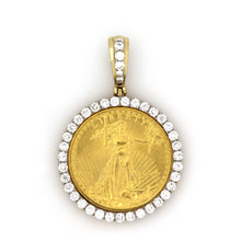 Load image into Gallery viewer, 14K Yellow Gold 1/4 Oz Coin Pendant 1.35 Ctw