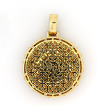 Load image into Gallery viewer, 14K Yellow Gold Braided Medallion Pendant 5.25 Ctw