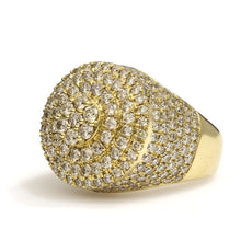 Load image into Gallery viewer, 14K Yellow Gold Circle Pave Ring 5.75 Ctw