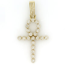 Load image into Gallery viewer, 14K Yellow Gold Ankh Pendant 1.1 Ctw