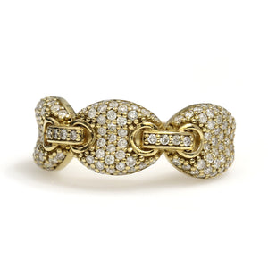 10K Yellow Gold Gucci Puff Ring 1.25 Ctw
