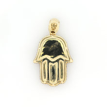 Load image into Gallery viewer, 14K Yellow Gold Hamsa Pendant 2.9 Ctw