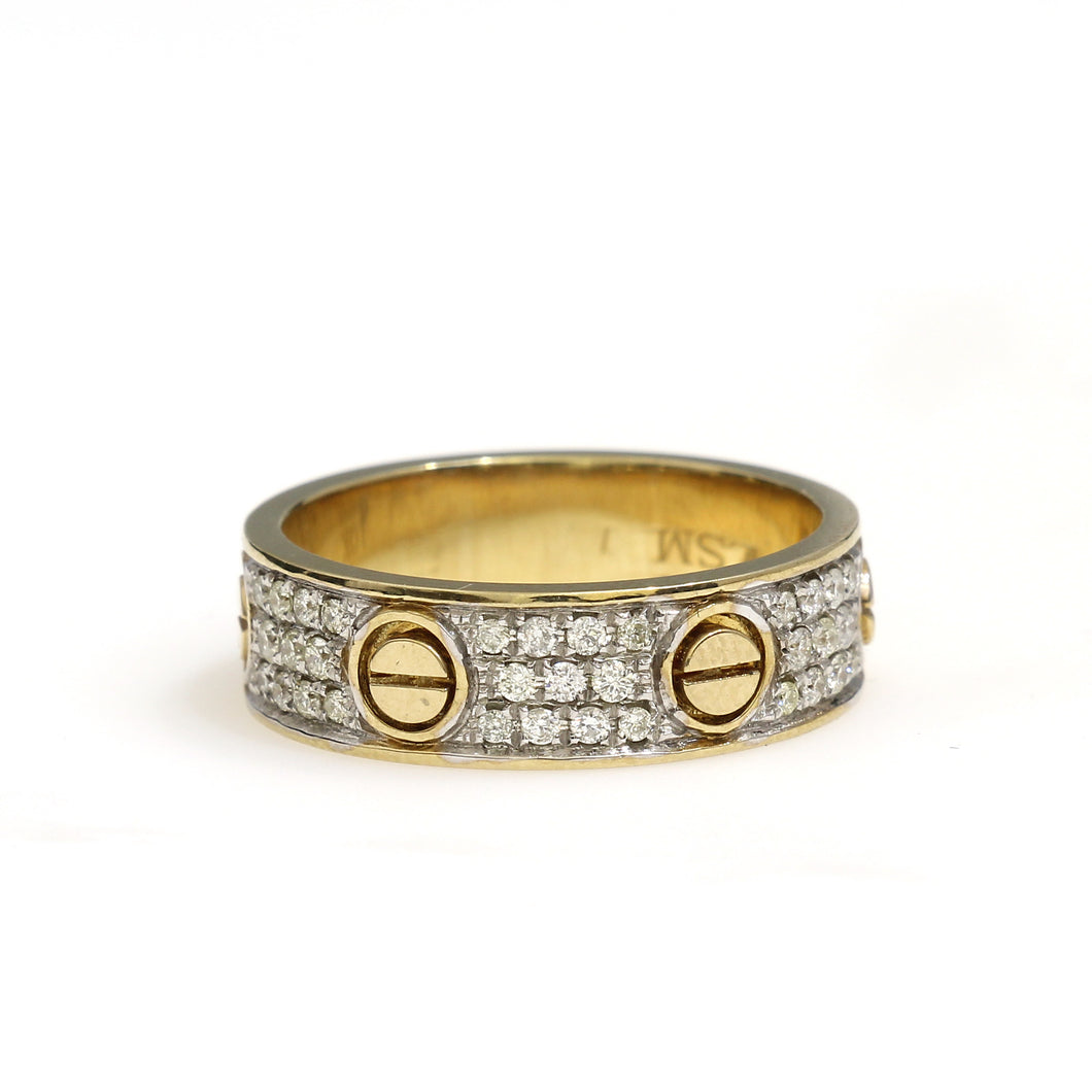 10K Yellow Gold Cartier Love Ring 0.4 Ctw