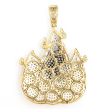 Load image into Gallery viewer, 10K Yellow Gold Fire Emoji Pendant 1.6 Ctw