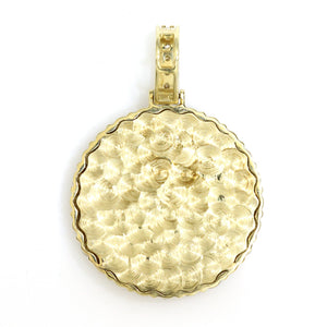 14K Yellow Gold Memory Pendant 1.75 Ctw