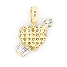 Load image into Gallery viewer, 10K Two-Tone Gold Heart And Arrow Pendant 0.8 Ctw
