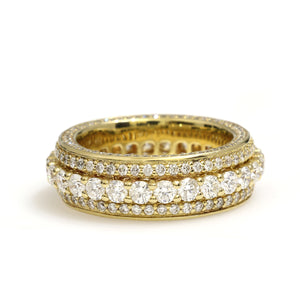 14K Yellow Gold Eternity Band Ring 4.66 Ctw
