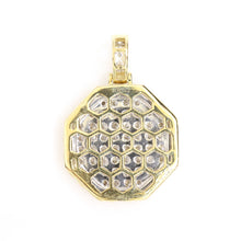 Load image into Gallery viewer, 10K Yellow Gold Octagonal Tag Pendant 1.1 Ctw