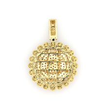 Load image into Gallery viewer, 14K Yellow Gold Medallion Pendant 2.5 Ctw