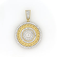 Load image into Gallery viewer, 10K Yellow Gold Cuban Medallion Pendant 1.5 Ctw