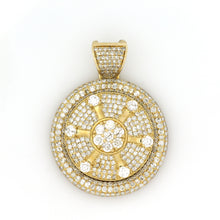 Load image into Gallery viewer, 10K Yellow Gold Spinner Medallion Pendant 5 Ctw