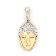 Load image into Gallery viewer, 10K Yellow Gold Buddha Pendant 0.55 Ctw