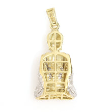 Load image into Gallery viewer, 10K Yellow Gold Buddha Pendant 0.85 Ctw