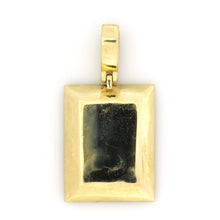 Load image into Gallery viewer, 14K Yellow Gold Jumbo Dog Tag Pendant 4 Ctw