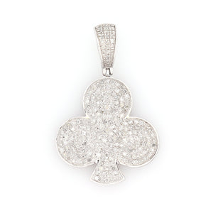 10K White Gold Clover Club Pendant 0.5 Ctw - Queen City Jewelry & Pawn