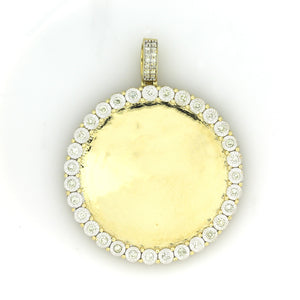 10K Yellow Gold Memory Pendant 1 Ctw