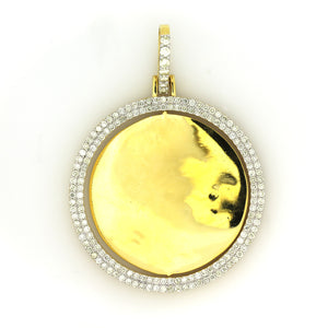 10K Yellow Gold 2 Sided Memory Pendant 2.5 Ctw