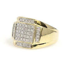 Load image into Gallery viewer, 10K Yellow Gold Micro Pave Ring 0.33 Ctw