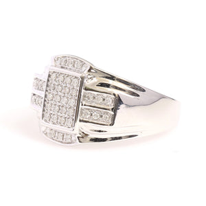 10K White Gold Micro Pave Ring 0.25 Ctw