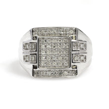 Load image into Gallery viewer, 10K White Gold Micro Pave Ring 0.33 Ctw