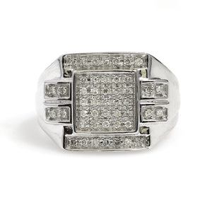10K White Gold Micro Pave Ring 0.33 Ctw