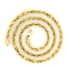 Load image into Gallery viewer, 10k Yellow Gold Diamond Cut Rope Chain 4.3mm 20""