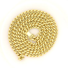 Load image into Gallery viewer, 10k Yellow Gold Miami Cuban Chain 6.7mm 22""
