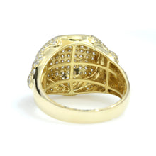 Load image into Gallery viewer, 14K Yellow Gold Drip Pave Ring 1.65 Ctw