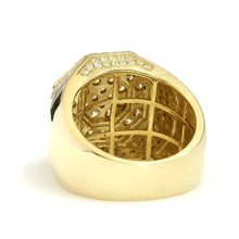 Load image into Gallery viewer, 10K Yellow Gold Octagon Pave Ring 2.8 Ctw
