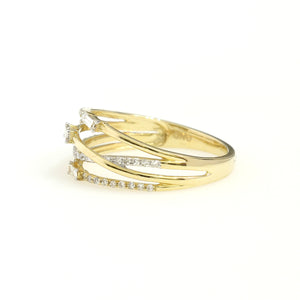 14K Yellow Gold Fancy Fashion Ring 0.25 Ctw