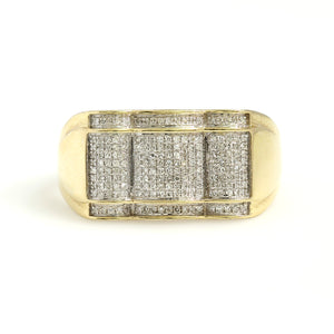 10K Yellow Gold Micro Pave Ring 0.33 Ctw
