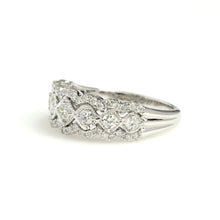 Load image into Gallery viewer, 14K White Gold Fancy Scalloped Band Ring 0.75 Ctw