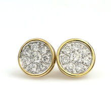 Load image into Gallery viewer, 14K Yellow Gold Round Cluster Earrings 1 Ctw