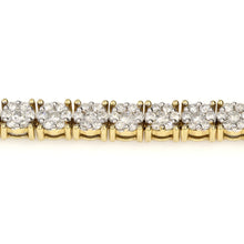 Load image into Gallery viewer, 14K Yellow Gold Round Cluster Bracelet 7.9 Ctw
