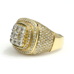 14K Yellow Gold Championship Style Ring 5 Ctw