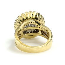 Load image into Gallery viewer, 14K Yellow Gold Round Cluster 2 Pc Bridal Set Ring 2.5 Ctw