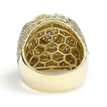 Load image into Gallery viewer, 14K Yellow Gold Round Cluster Ring 5.85 Ctw
