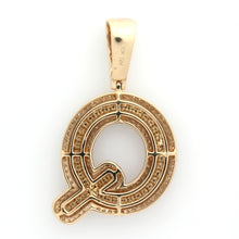 Load image into Gallery viewer, 10K Yellow Gold Q Initial Pendant 2 Ctw