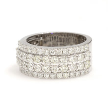 Load image into Gallery viewer, 10K White Gold Stepped Band Ring 2.5 Ctw