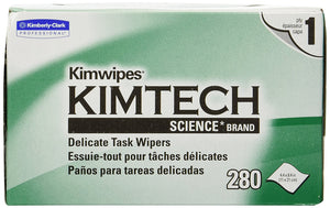 "Kimtech Kimwipes EX-L Wipes, 4-1/2"" X 8-1/2"", 280/box - Great for RULER probe cleaning - CM-RUL-WIPE"