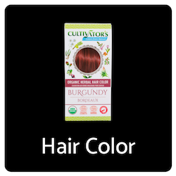 Organic Herbal Burgundy Hair Color