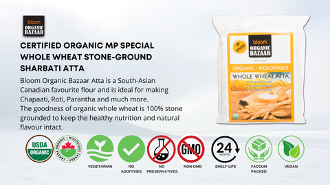 Bloom MP Special Organic Whole Wheat Atta