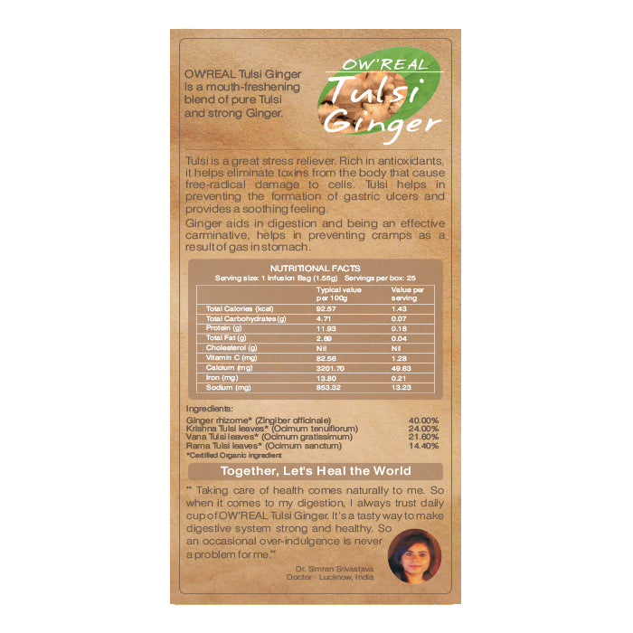Buy Bloom Organic OW'REAL Tulsi Ginger Tea in Canada
