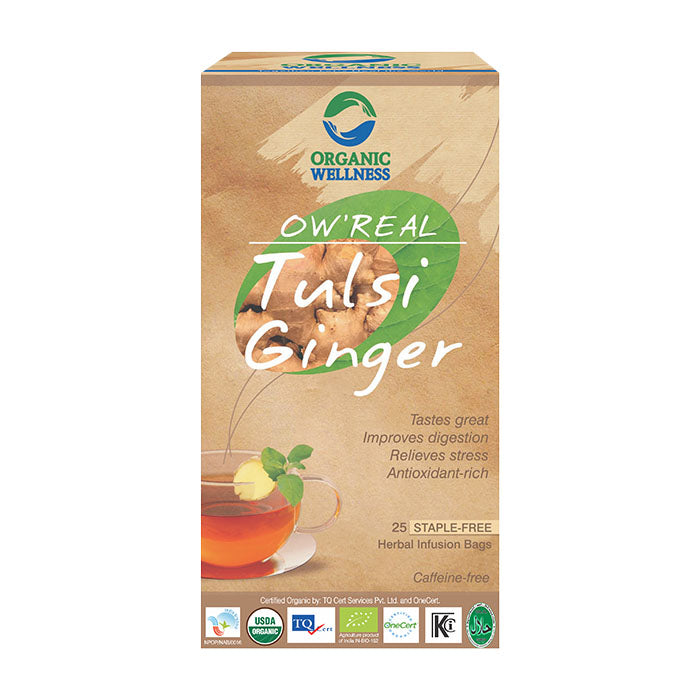 Buy Bloom Organic OW'REAL Tulsi Ginger Tea