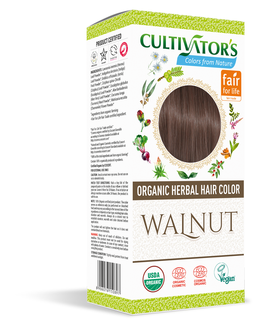 Cultivator's Organic Herbal Walnut Hair Color (4x25g)