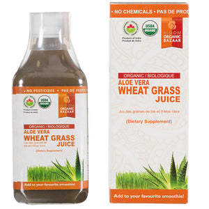 Bloom  Organic Aloe Vera & Wheat Grass Juice
