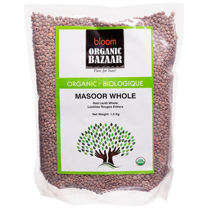 Bloom Organic Masoor Whole in ON